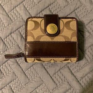 Coach Signature brown wallet